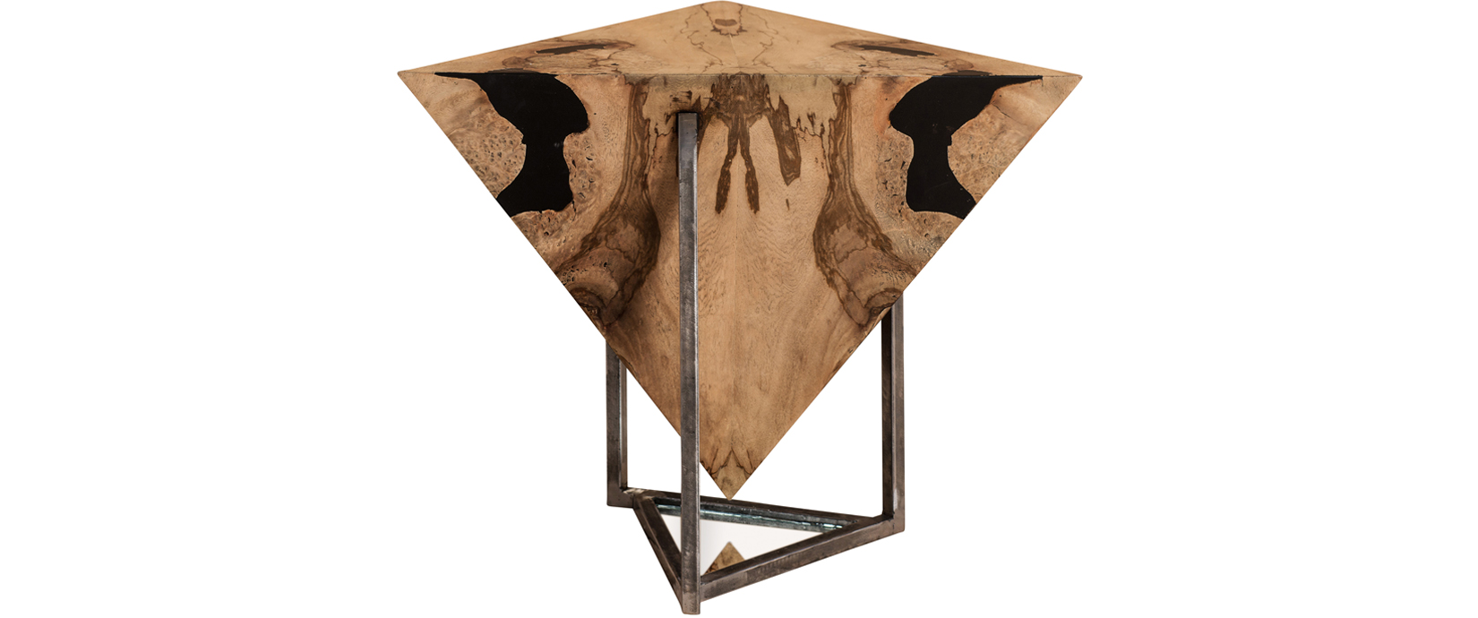 Braga triangular lamp table taracea braga triangular lamp table aloadofball Gallery